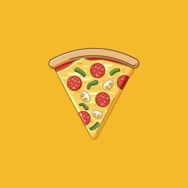 Pizza Slice Illustraiton