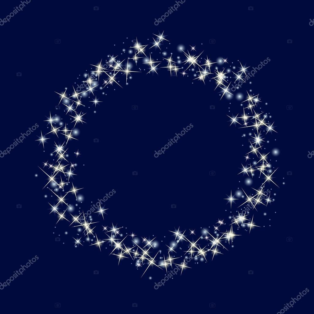Sternenhimmel-Grenze. Kosmischer Hintergrund — Stockvektor ...