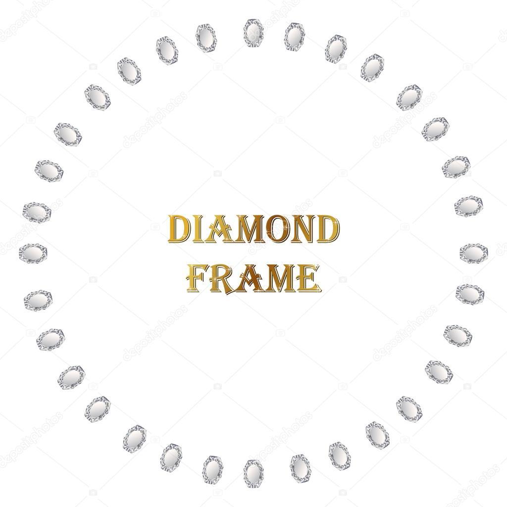 Diamante redondo marco — Vector de stock © lolya1988 #113128504