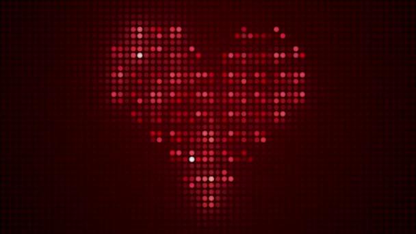 heart made of light bulbs