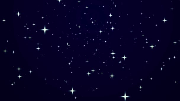 Abstract background with rotating stars.