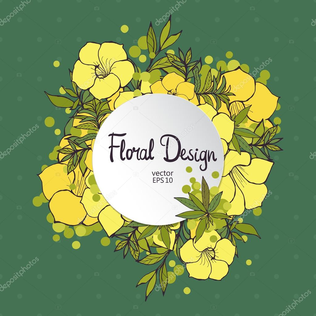 Citcle Floral Frame Stock Vector Lolya1988 82692280