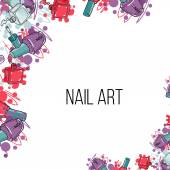 Photo Vector nail lacquer bottles