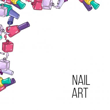 Vector nail lacquer bottles