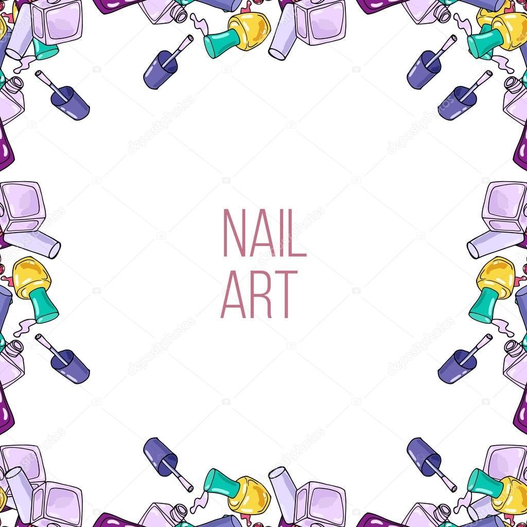Nail Art Vector: Stock Vector © Lolya1988