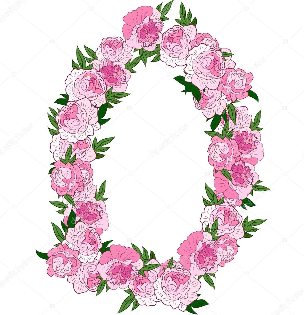 Floral pink wreath