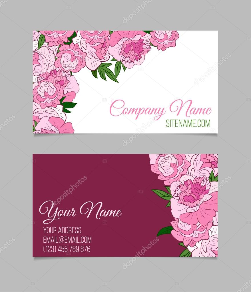 Beautiful floral business cards — Stock Vector © lolya1988 #98570164