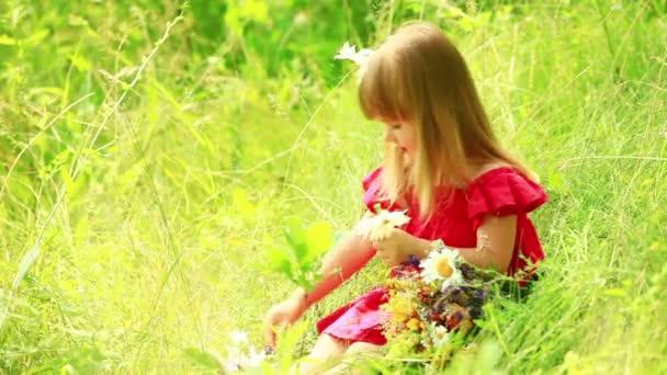 Děvče kytice