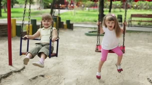 Two girls on the playground