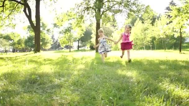 Children running to the camera