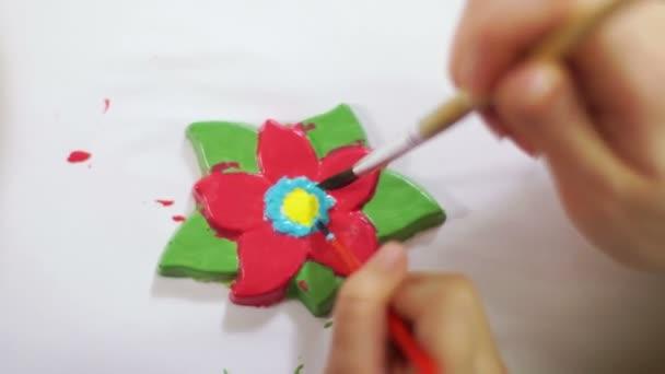 Lány rajz virág