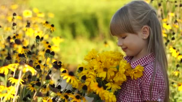 girl with yellow flowers.