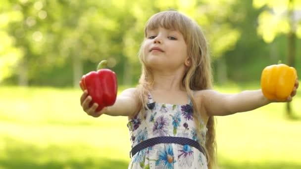 Dítě hospodářství zdravá zelenina