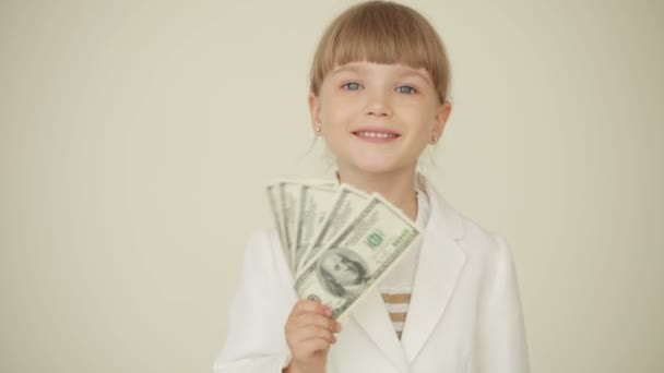 Kleine Mädchen Betrieb Dollar