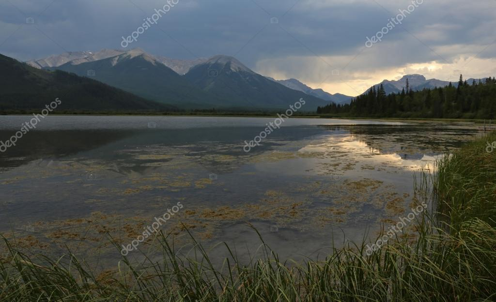 Vermilion Lakes Sunset Reflection