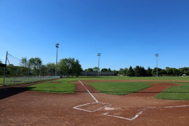 Wide Open Baseball Field