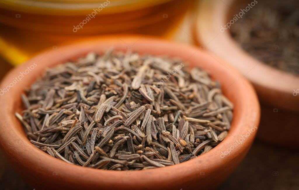 Close up of Caraway seeds — Stock Photo © bdspn74 #110411950