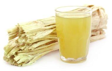 Sugarcane juice with bagasse
