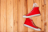 Fotografia scarpe da ginnastica di tela
