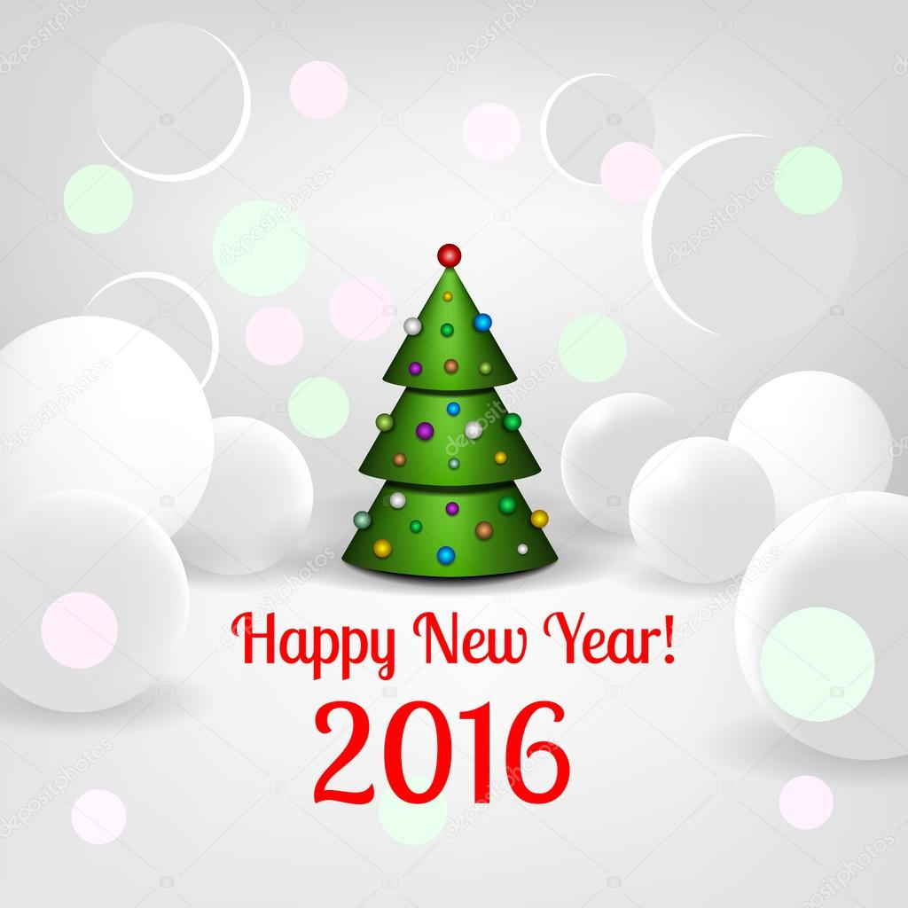 new year background with elegant christmas tree stock vector