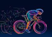 Profesionální cyklista účastní cyklistického závodu