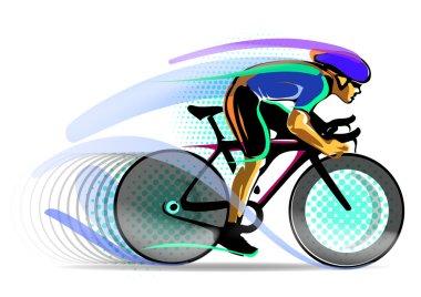 Stylized motion cyclist