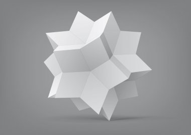 Rhombic hexecontahedron for graphic design