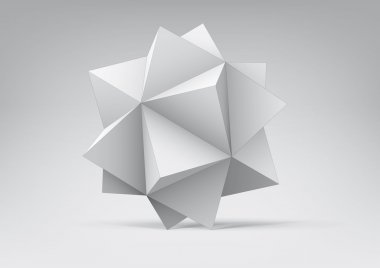 Abstract geometric shape from pyramids for graphic design