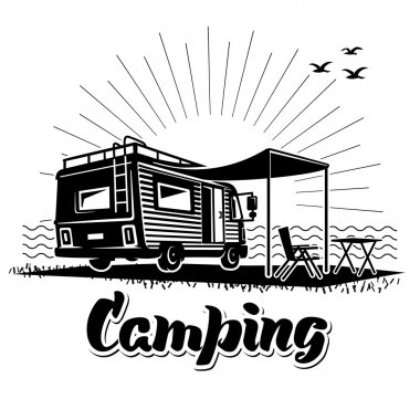 Camping. Recreation with family.