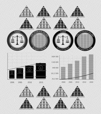 vintage infographics money and coins