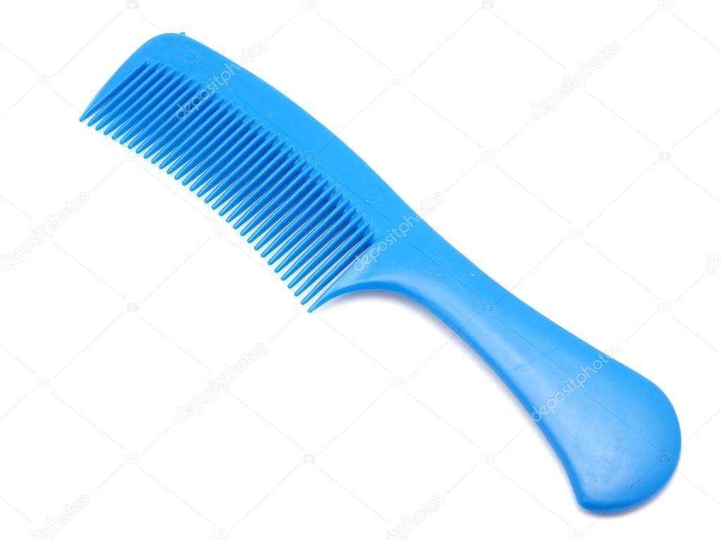 comb for hair on a white background
