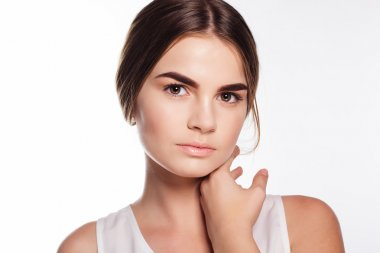 Face of girl with smooth skin tone