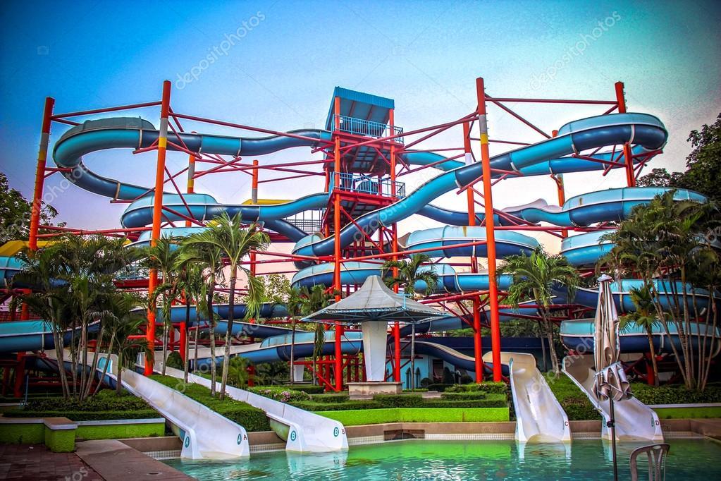 Water park with swimming pool in Bangkok
