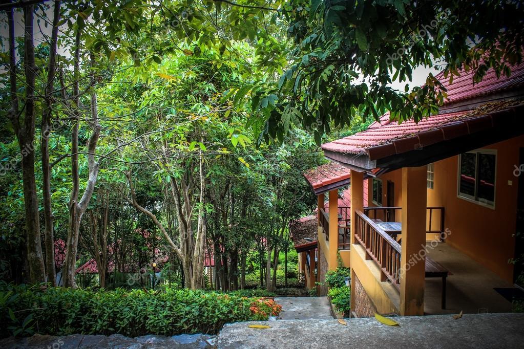 beautiful bungalow resort in jungle, Koh Samui, Thailand