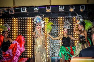 KOH SAMUI, THAILAND 2013, 2 APRIL Transvestites in Chaweng nightclub