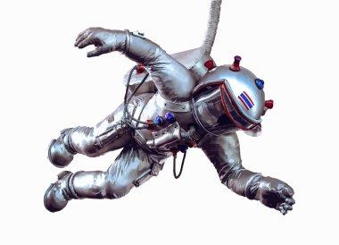 Cartoon isolated Astronaut. Vector