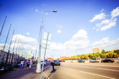 Moscow, Russia, 8 august 2014, Roads in sunny day.