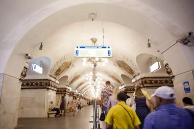 MOSCOW, RUSSIA 11 august 2014, Metro carries over 7 million passengers per a day