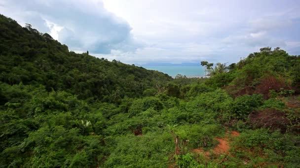 Pohled z zobrazení bod Samui ostrova