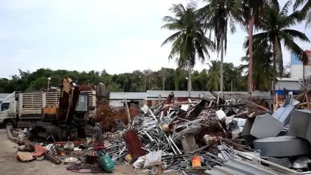 the landfill in Koh Samui, Thailand. HD. 1920x1080