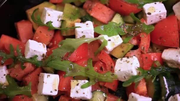 Close up of greek salad. HD. 1920x1080