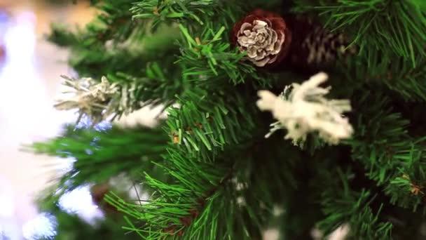 smrkové šišky na vánoční stromeček