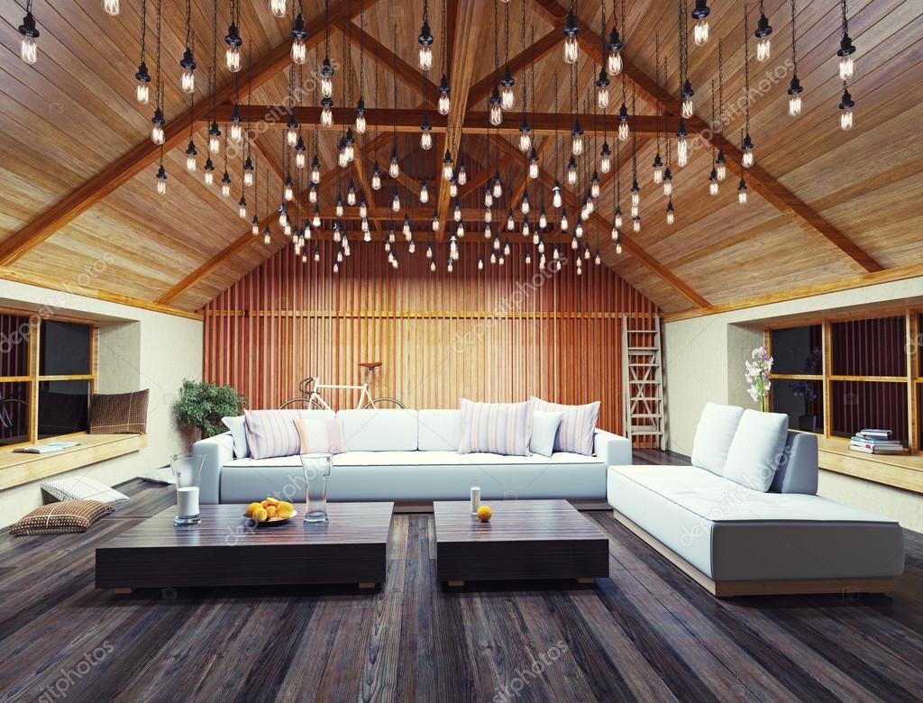 Moderne interieur loft u stockfoto vicnt