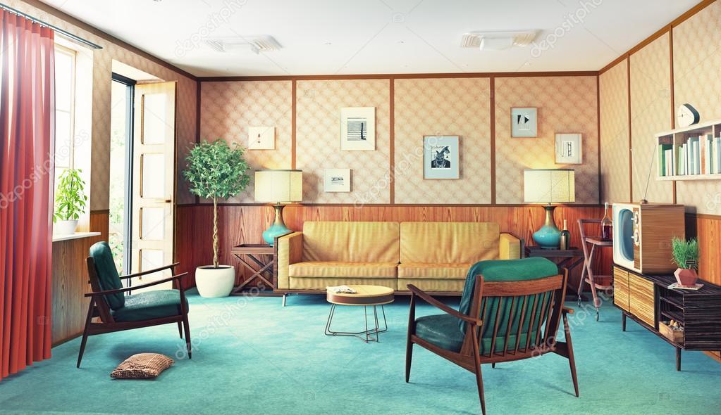 gemütliches retro-Interieur — Stockfoto © vicnt2815 #98762302