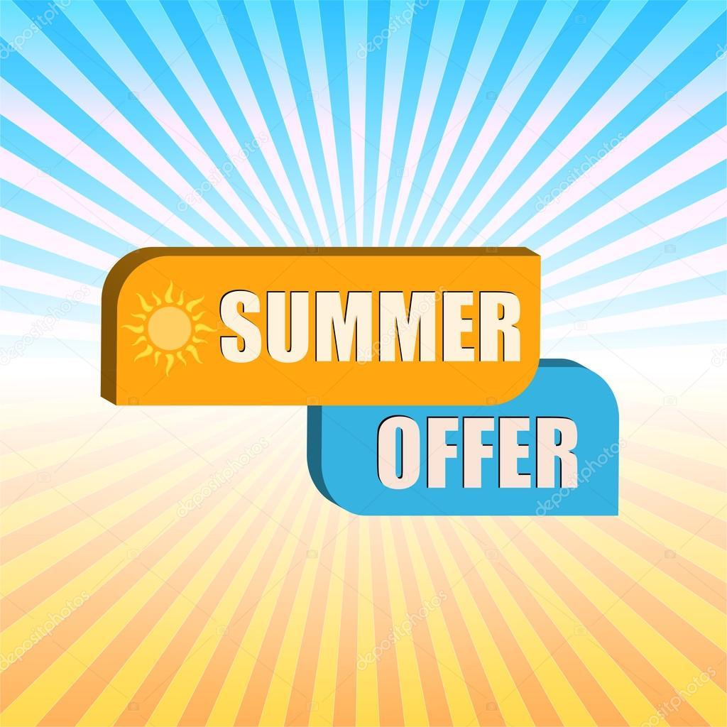 Sommer Angebot über Strahlen Vektor Stockvektor Marinini 117849070