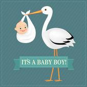 Plakát čáp s Baby Boy