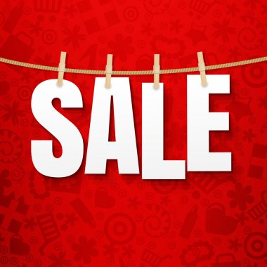 Sale Poster Clothes Pegs