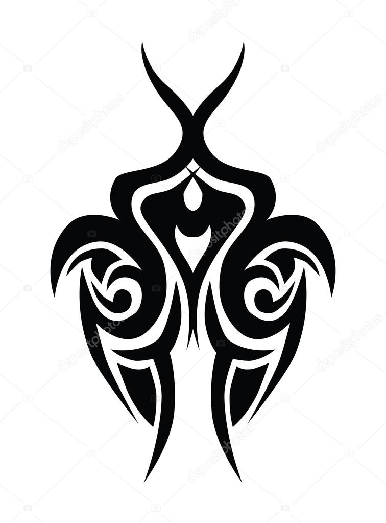 Tattoo designs. Tattoo tribal vector designs. Art tribal