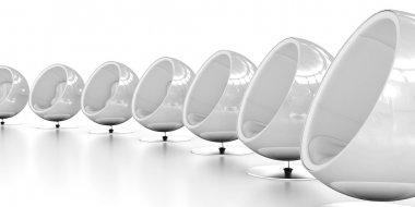 Ball Chairs White