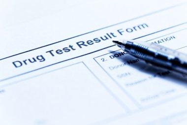 Drug test blank form
